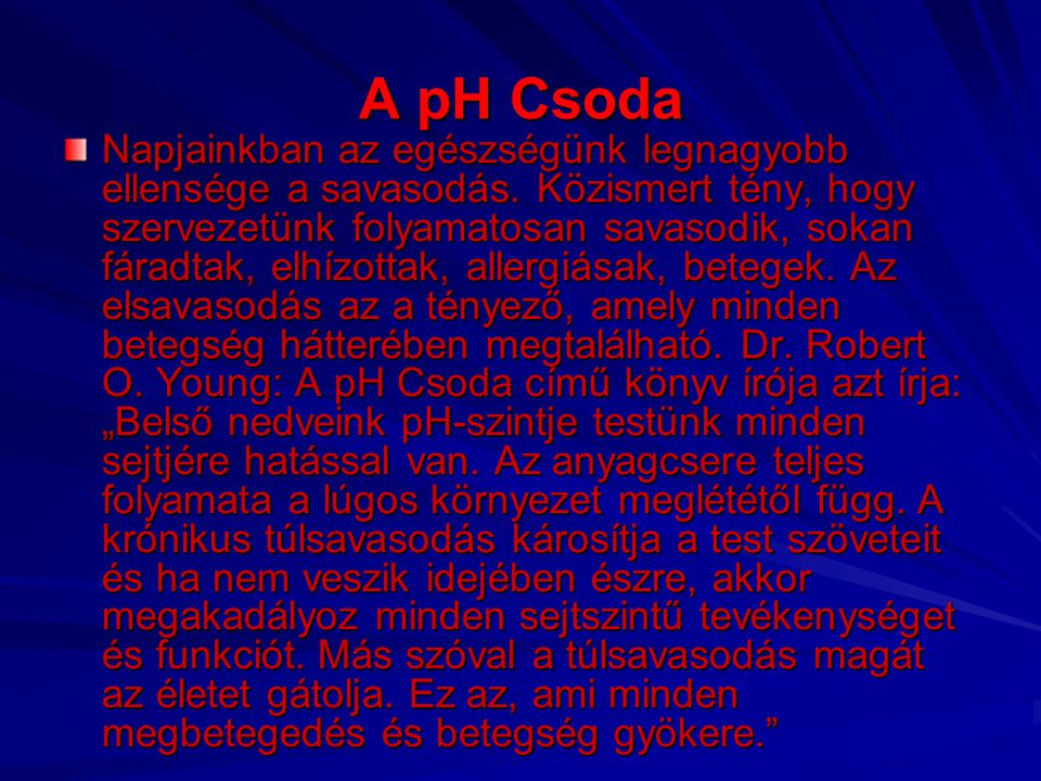 A pH Csoda