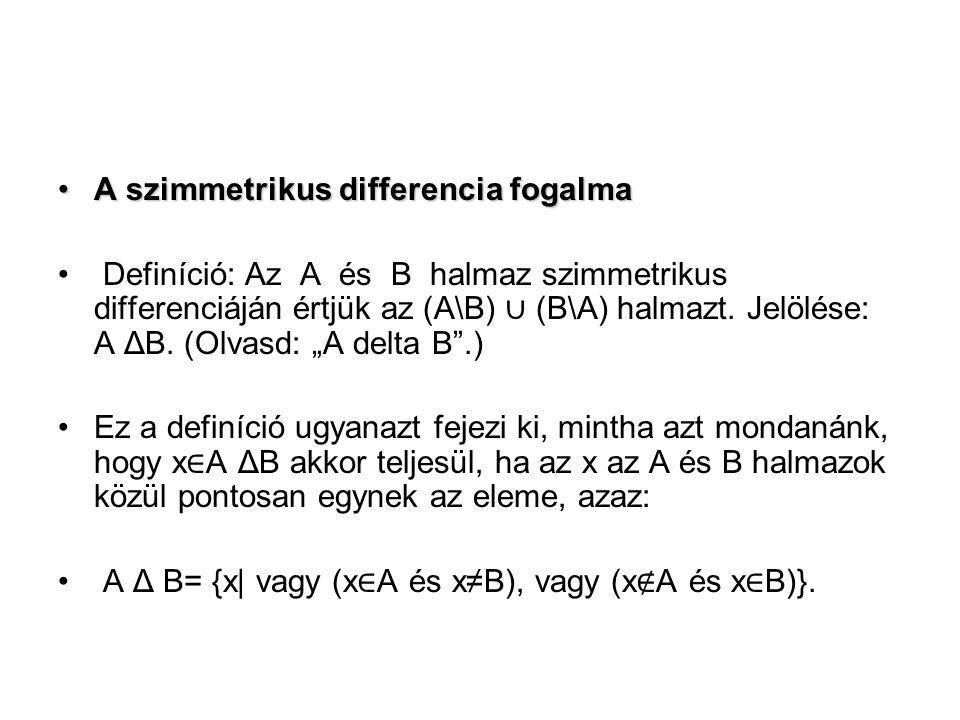 A szimmetrikus differencia fogalma