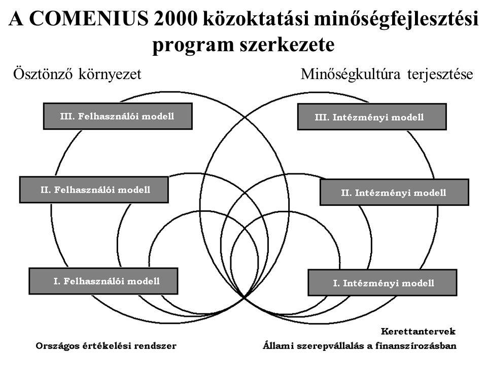 A COMENIUS 2000 közoktatási minőségfejlesztési program szerkezete