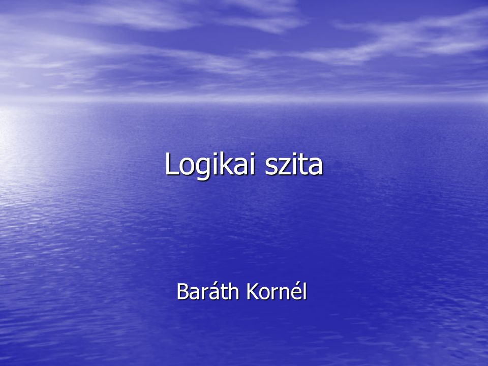 Logikai szita Baráth Kornél