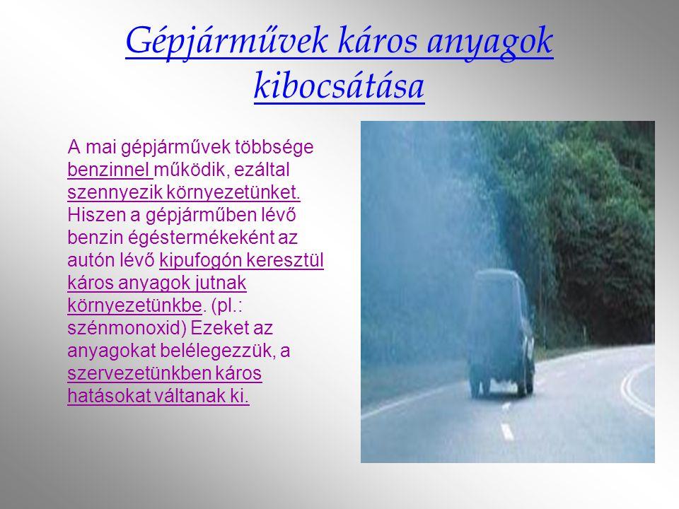 Gépjárművek káros anyagok kibocsátása
