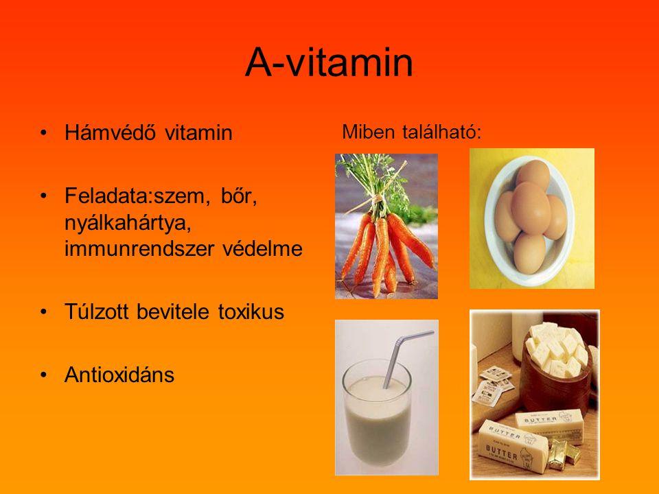 A-vitamin Hámvédő vitamin