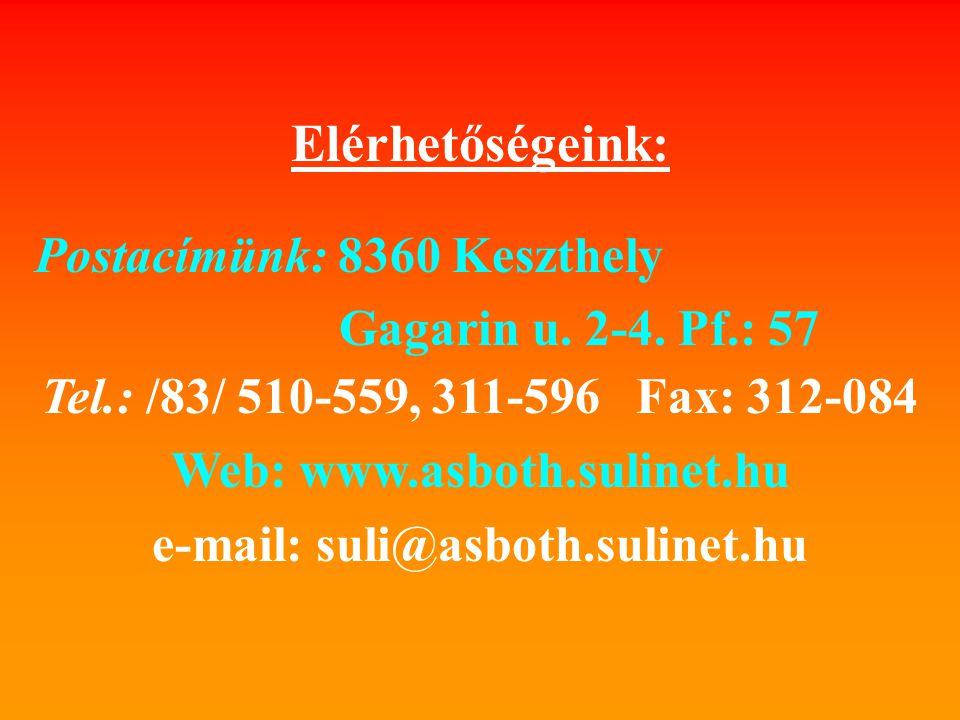 e-mail: suli@asboth.sulinet.hu
