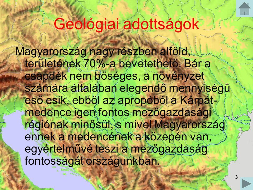 Geológiai adottságok