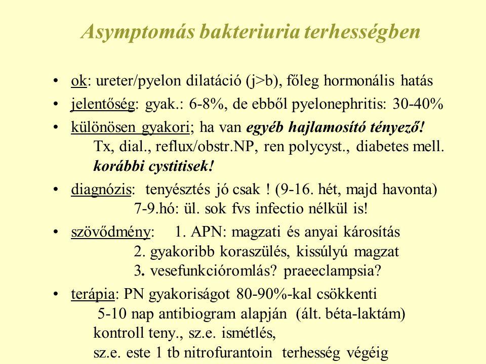 Asymptomás bakteriuria terhességben