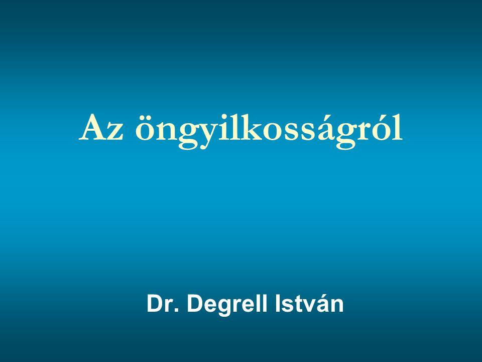 Az öngyilkosságról Dr. Degrell István