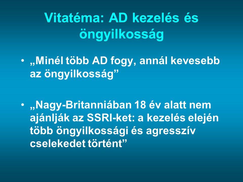 Vitatéma: AD kezelés és öngyilkosság