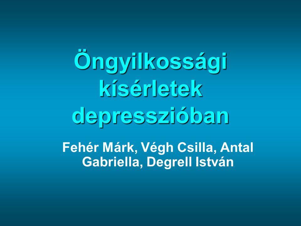 Öngyilkossági kísérletek depresszióban