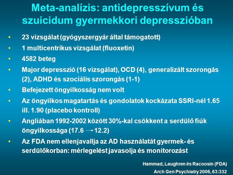 Meta-analízis: antidepresszívum és szuicidum gyermekkori depresszióban