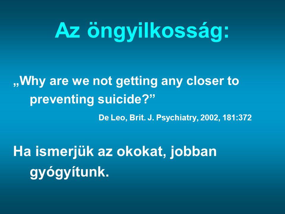 Az öngyilkosság: Ha ismerjük az okokat, jobban gyógyítunk.