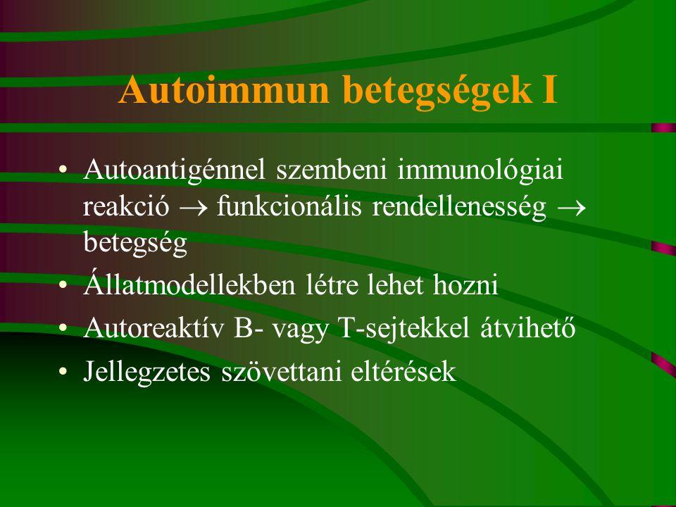 Autoimmun betegségek I