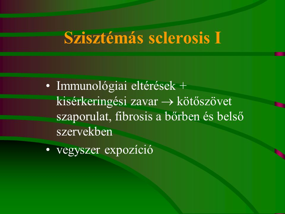 Szisztémás sclerosis I