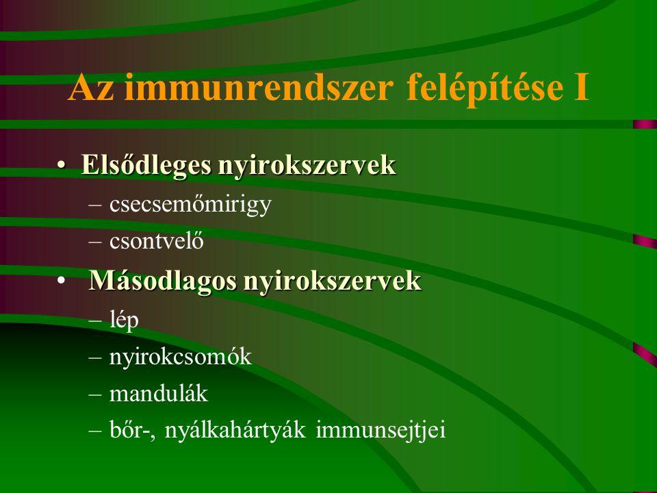 Az immunrendszer felépítése I