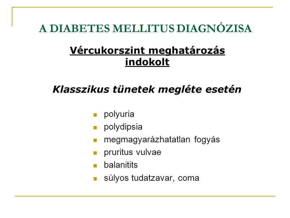 A DIABETES MELLITUS DIAGNÓZISA