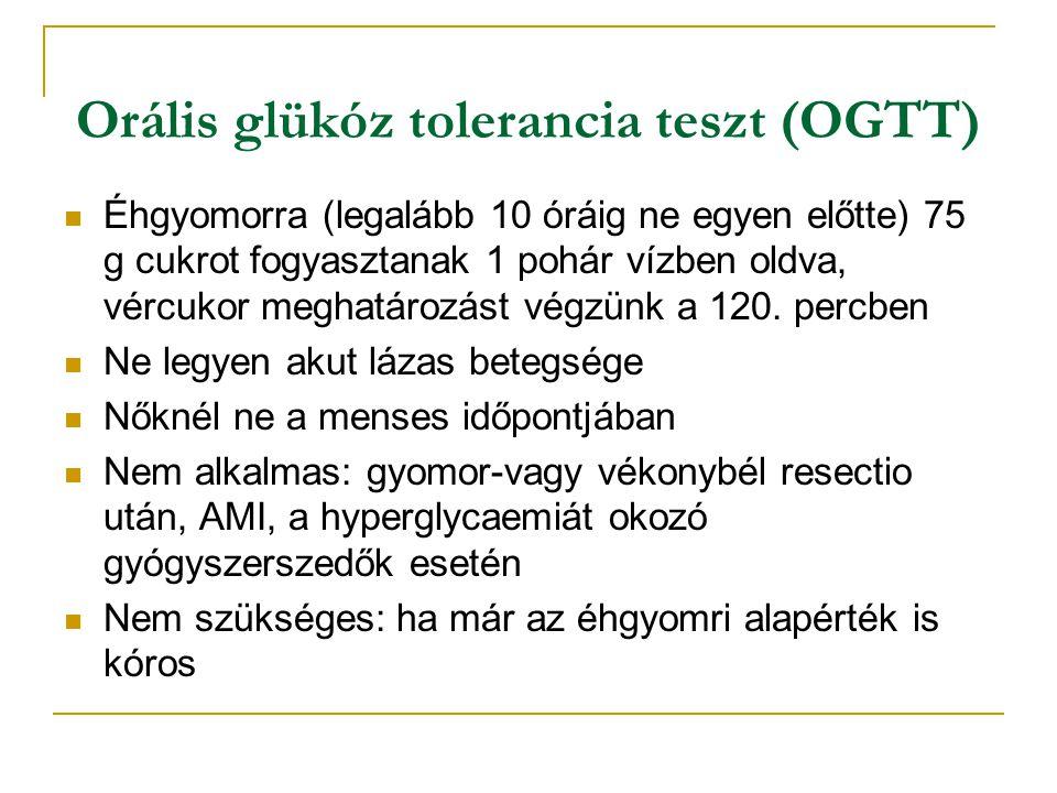 Orális glükóz tolerancia teszt (OGTT)