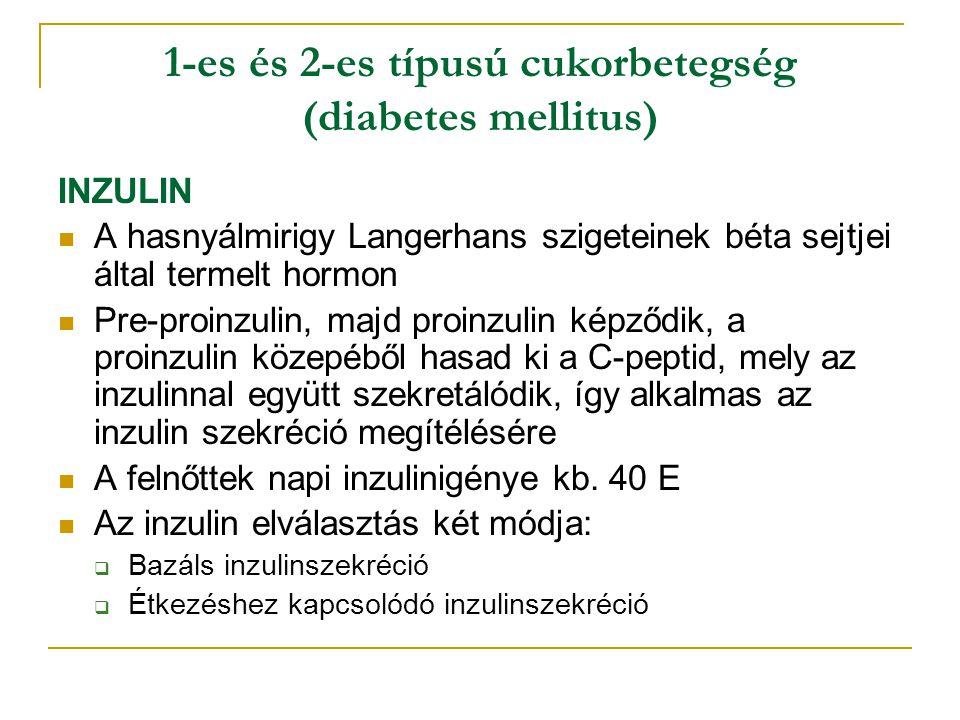 1-es és 2-es típusú cukorbetegség (diabetes mellitus)