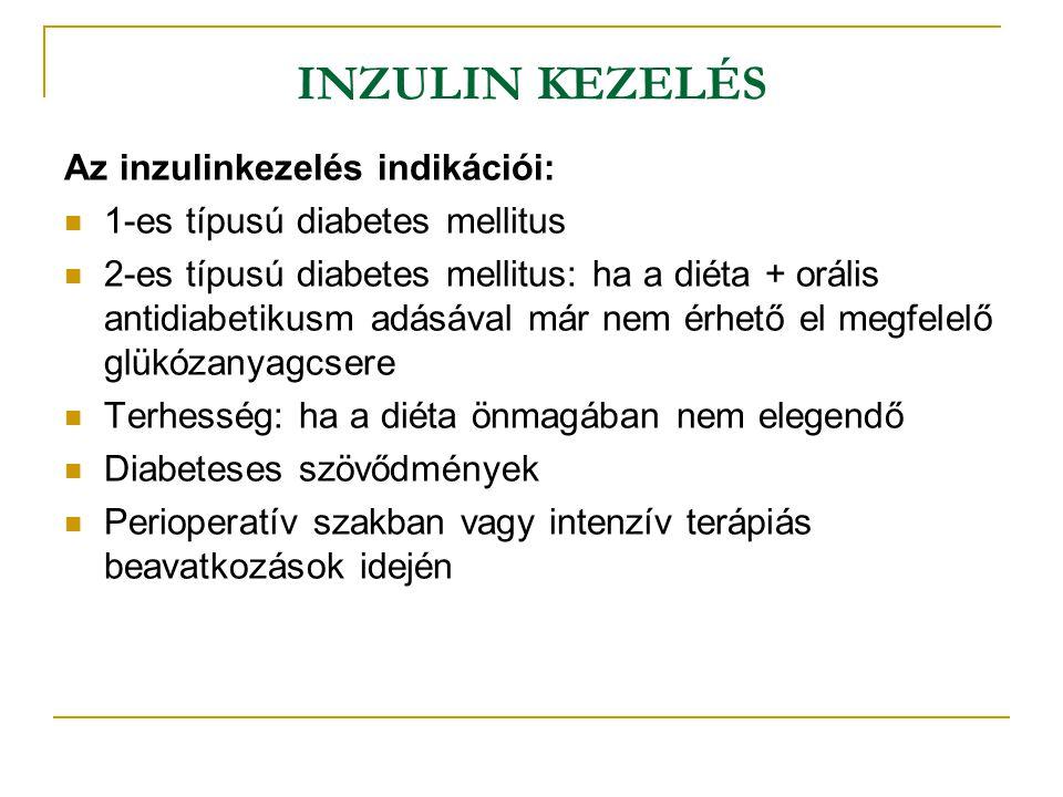 INZULIN KEZELÉS Az inzulinkezelés indikációi: