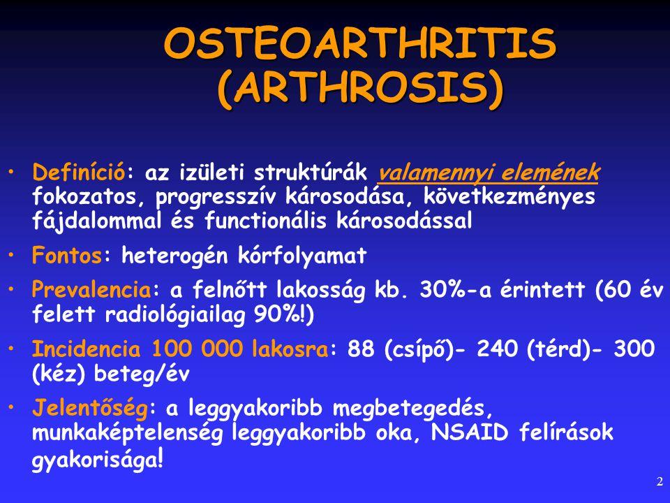 OSTEOARTHRITIS (ARTHROSIS)