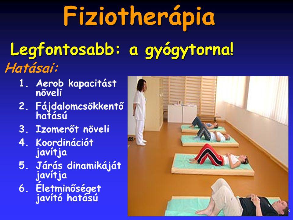 Fiziotherápia Legfontosabb: a gyógytorna! Hatásai: