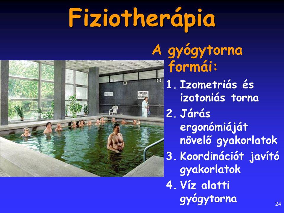 Fiziotherápia A gyógytorna formái: Izometriás és izotoniás torna