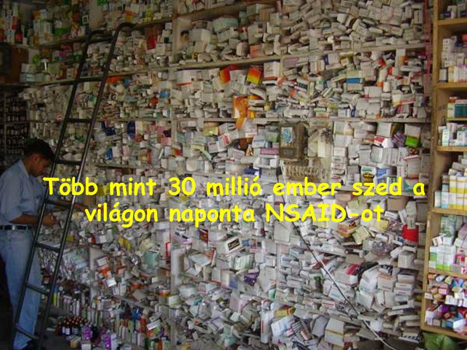 Több mint 30 millió ember szed a világon naponta NSAID-ot