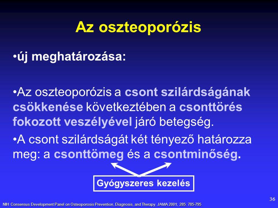 Az oszteoporózis új meghatározása:
