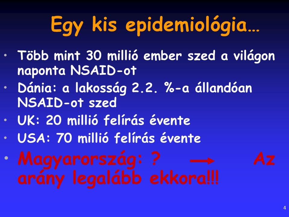 Egy kis epidemiológia…