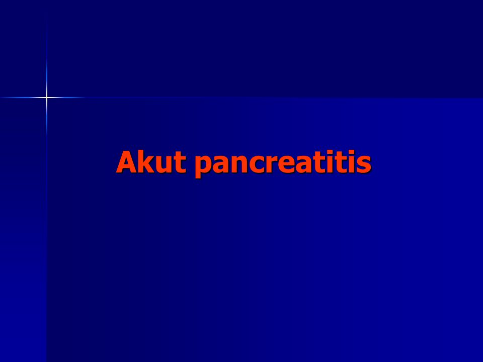 Akut pancreatitis