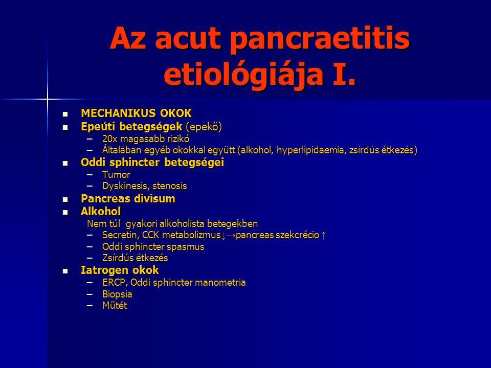 Az acut pancraetitis etiológiája I.