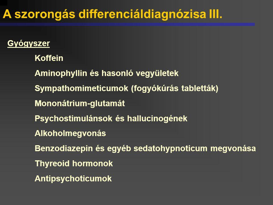 A szorongás differenciáldiagnózisa III.