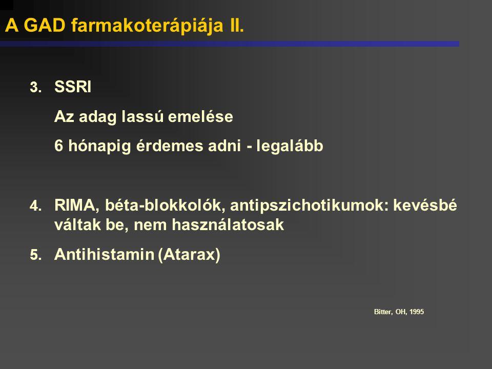 A GAD farmakoterápiája II.