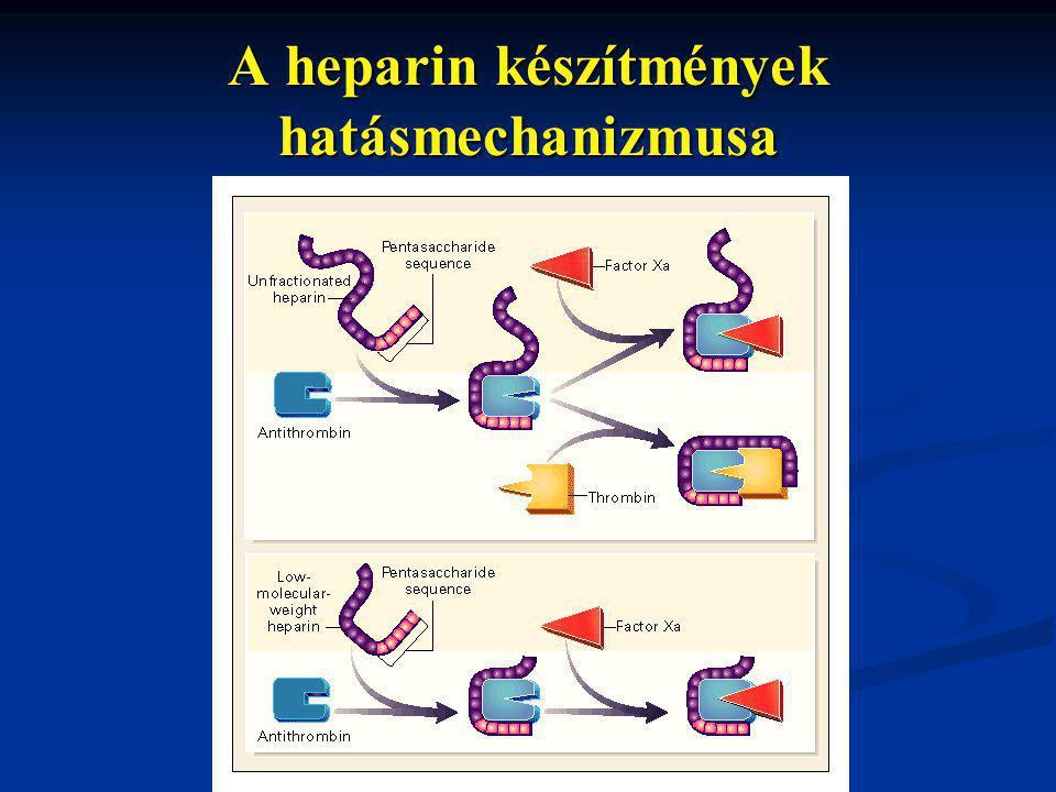 A heparin készítmények hatásmechanizmusa
