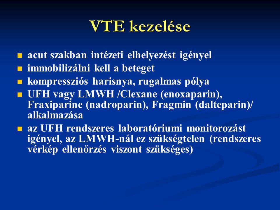 VTE kezelése acut szakban intézeti elhelyezést igényel