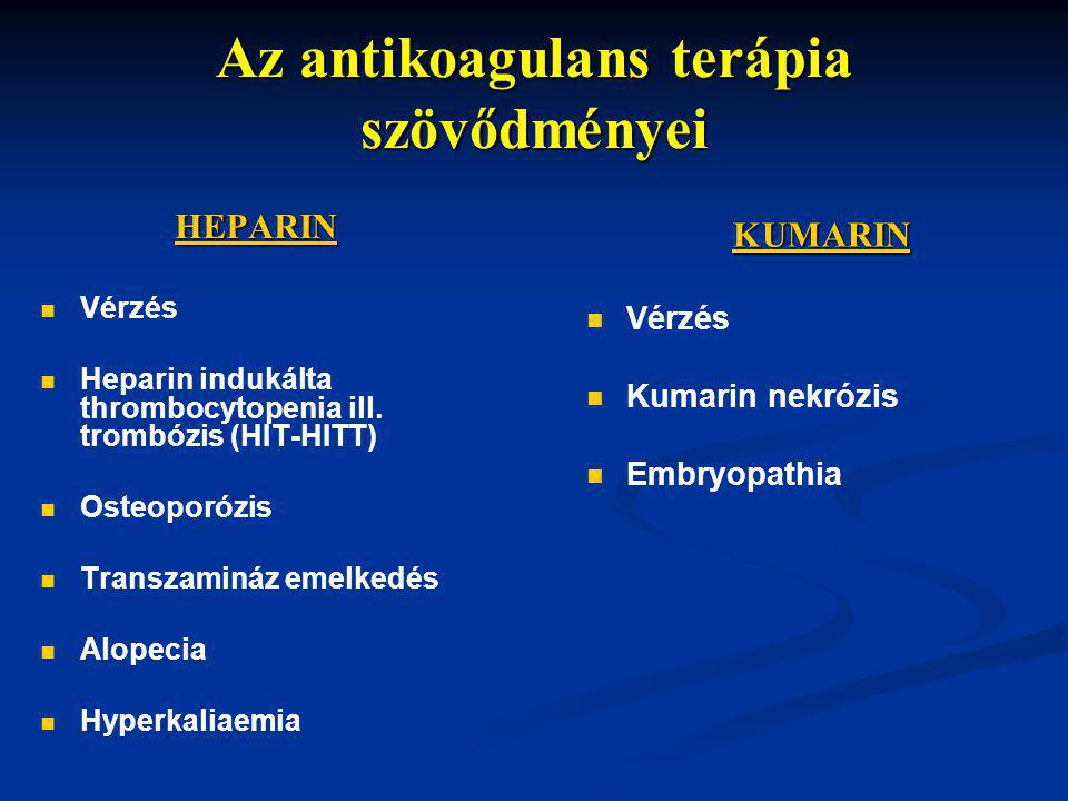 Az antikoagulans terápia szövődményei