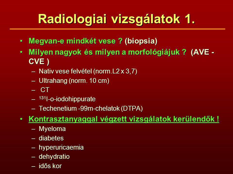 Radiologiai vizsgálatok 1.