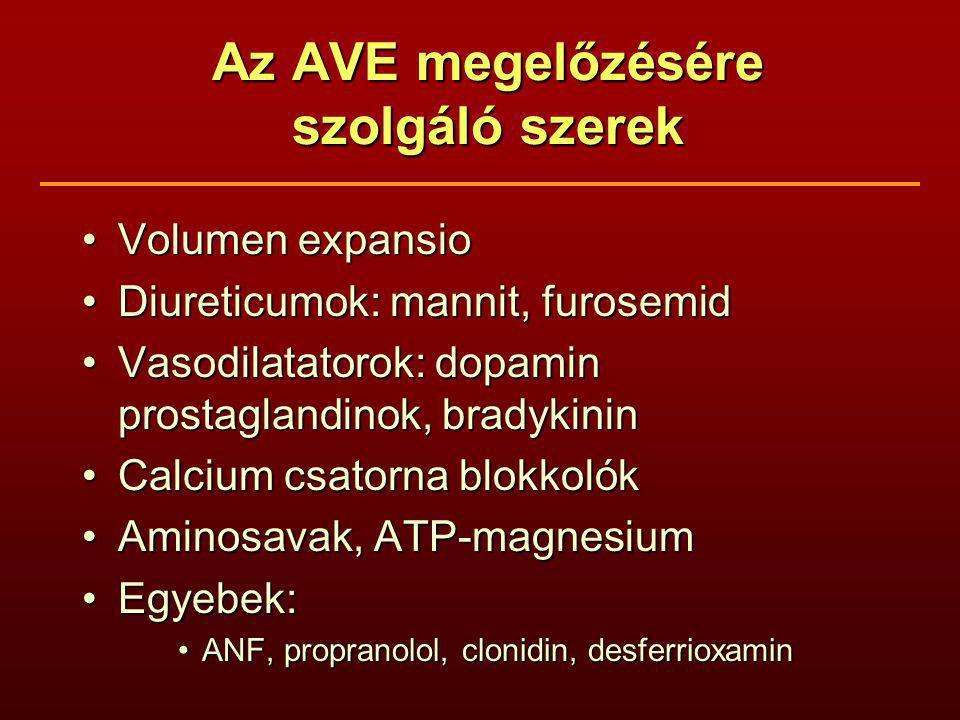 Az AVE megelőzésére szolgáló szerek