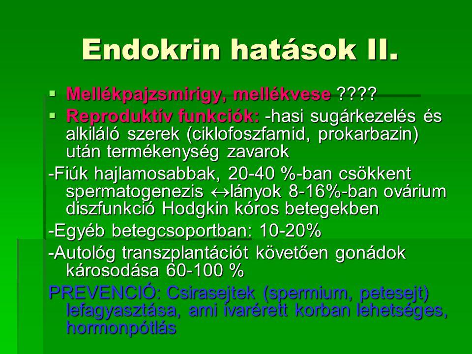 Endokrin hatások II. Mellékpajzsmirigy, mellékvese