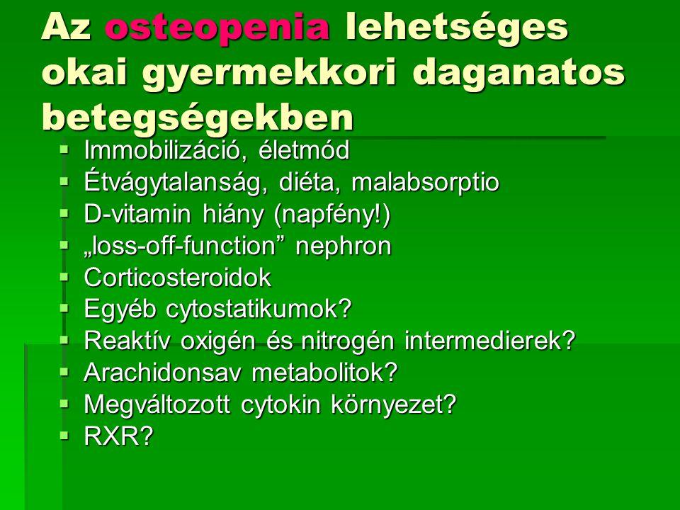 Az osteopenia lehetséges okai gyermekkori daganatos betegségekben