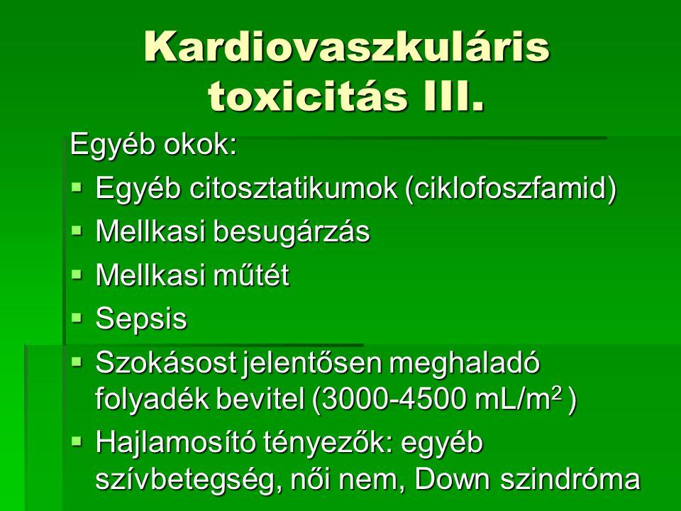 Kardiovaszkuláris toxicitás III.