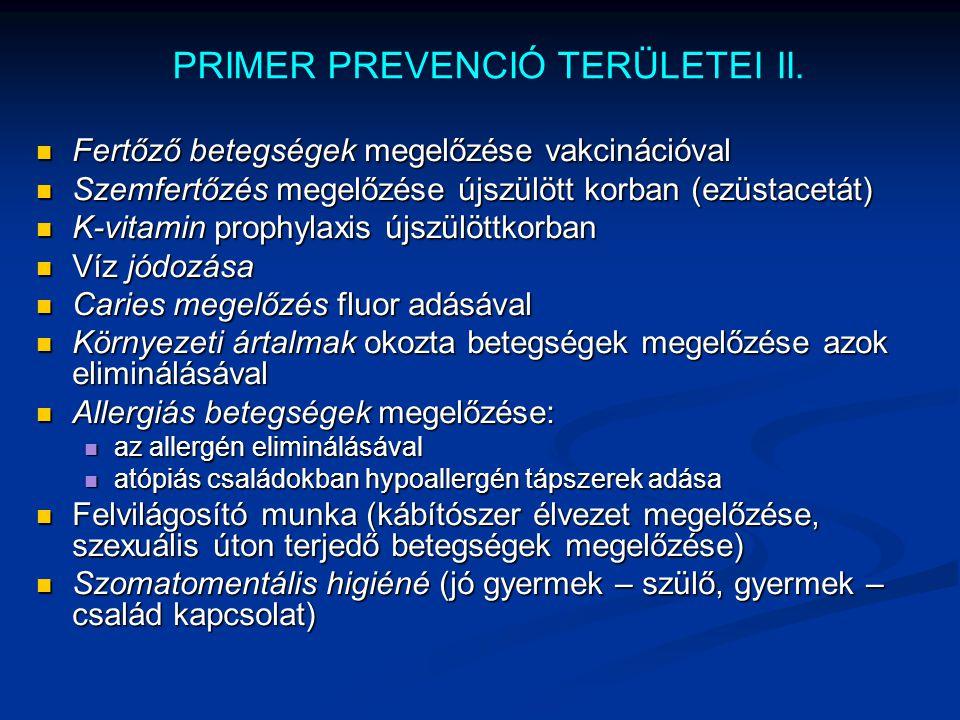 PRIMER PREVENCIÓ TERÜLETEI II.