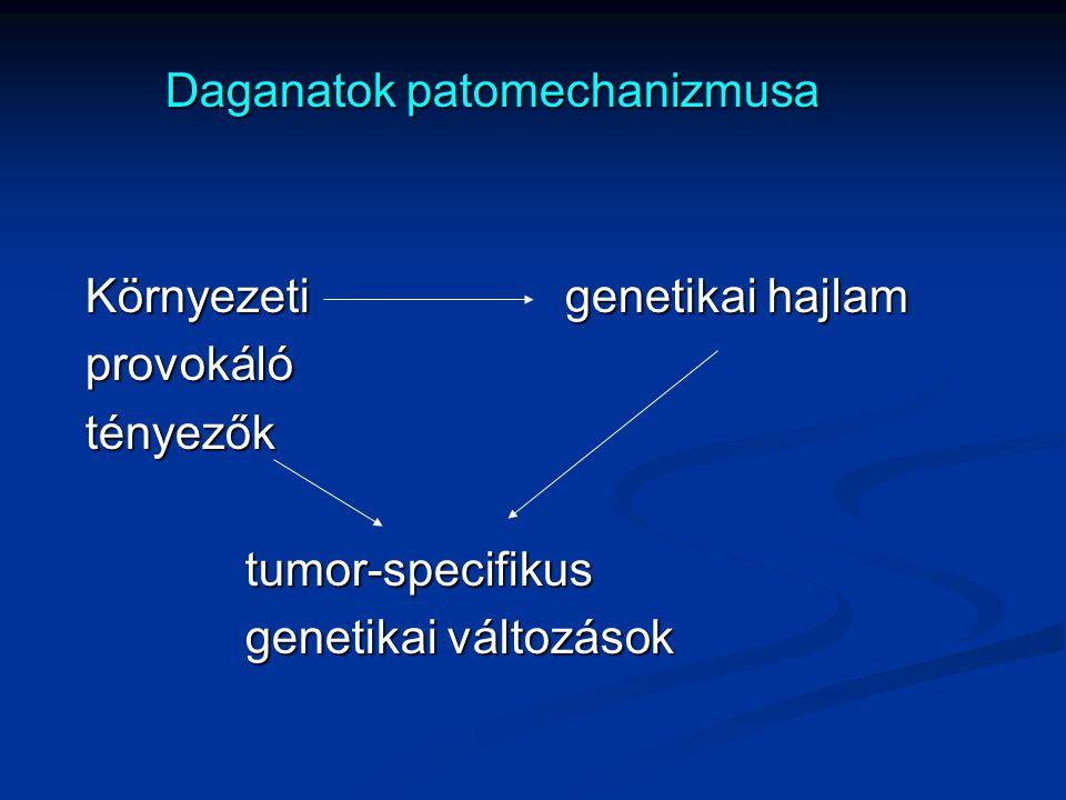 Daganatok patomechanizmusa