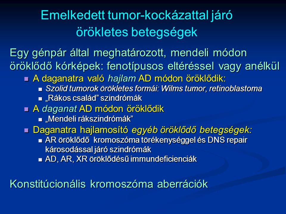 Emelkedett tumor-kockázattal járó örökletes betegségek
