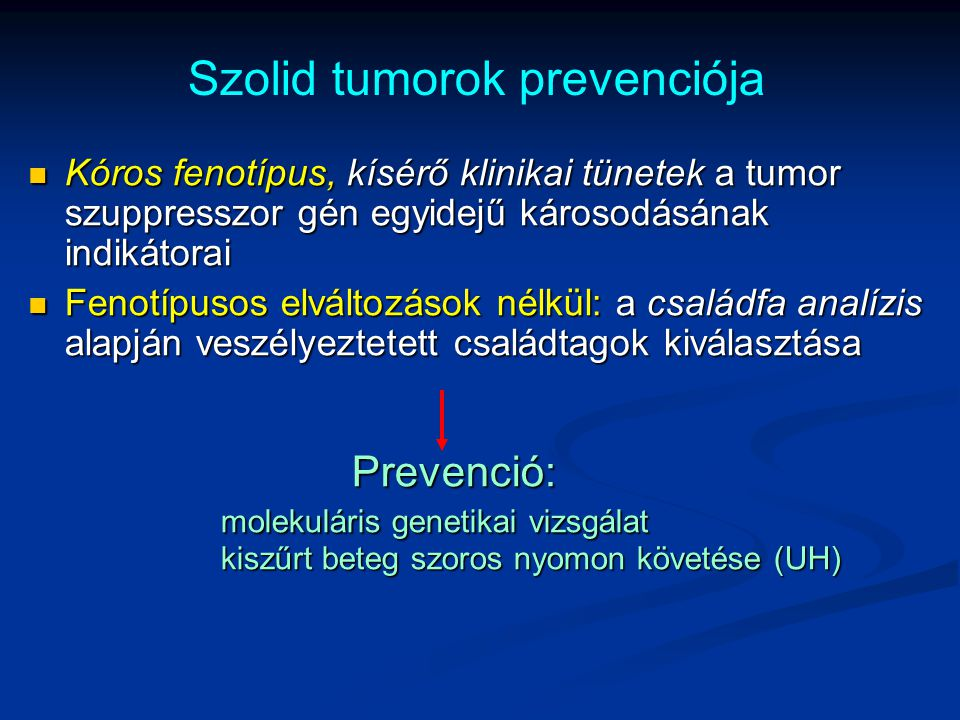 Szolid tumorok prevenciója