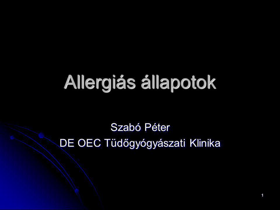 Szabó Péter DE OEC Tüdőgyógyászati Klinika