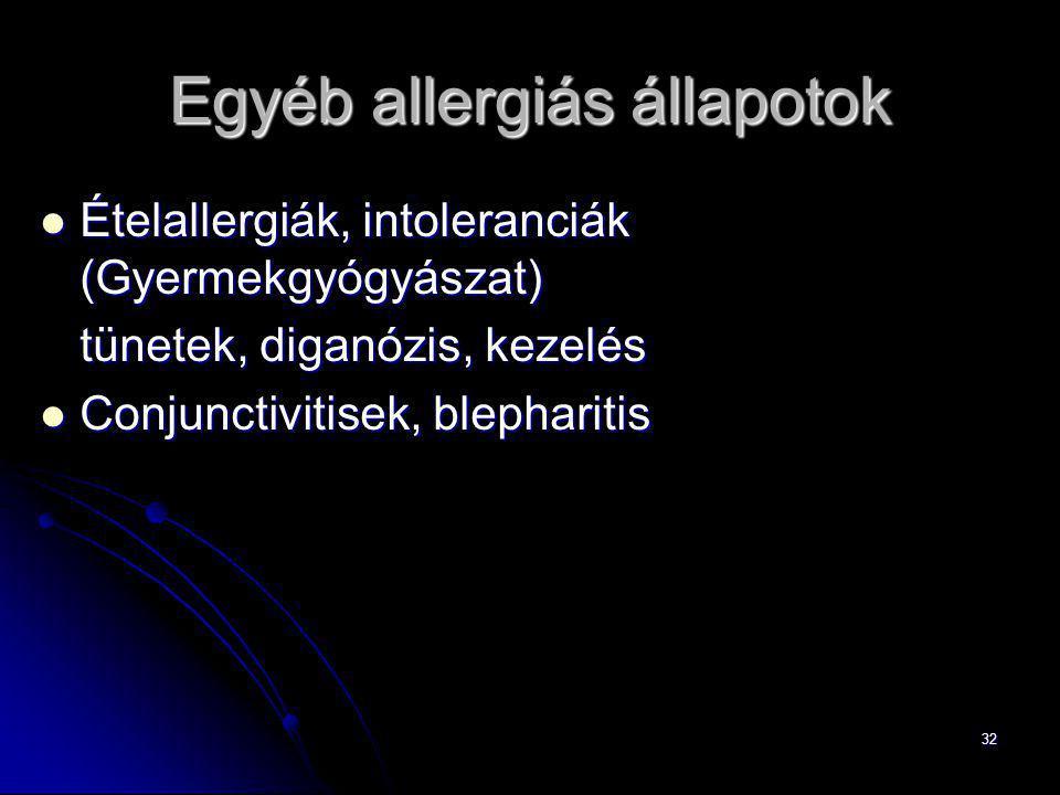 Egyéb allergiás állapotok