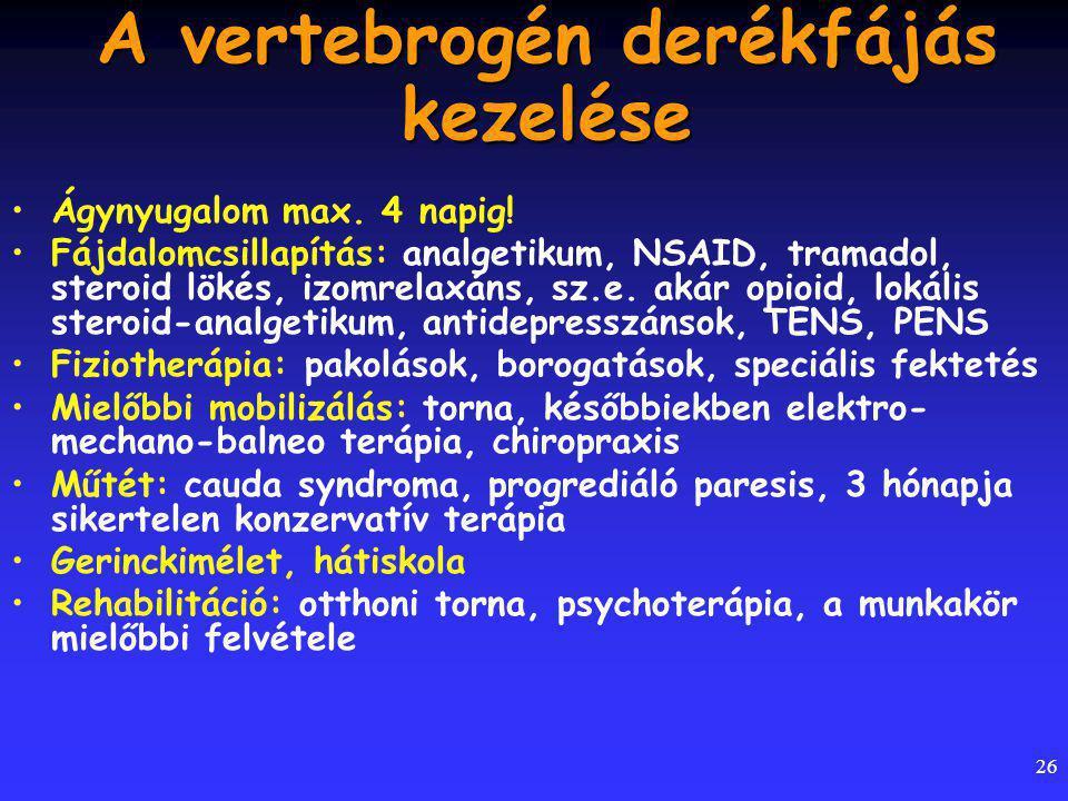 A vertebrogén derékfájás kezelése