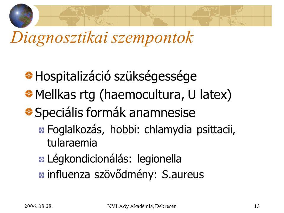 Diagnosztikai szempontok