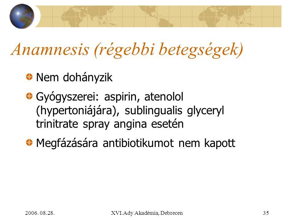 Anamnesis (régebbi betegségek)