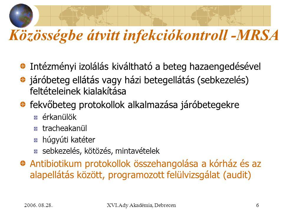Közösségbe átvitt infekciókontroll -MRSA