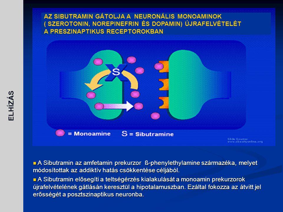 ELHÍZÁS AZ SIBUTRAMIN GÁTOLJA A NEURONÁLIS MONOAMINOK